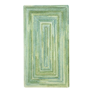CeCE Parrot Braided Concentric Rectangle Area Rug - 1'6 x 2'6