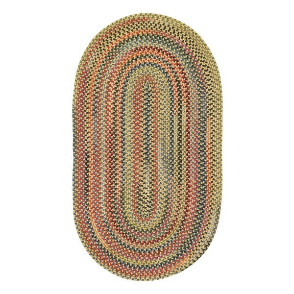 Riggins Gold Finch Braided Oval Area Rug - 2'3 x 4'