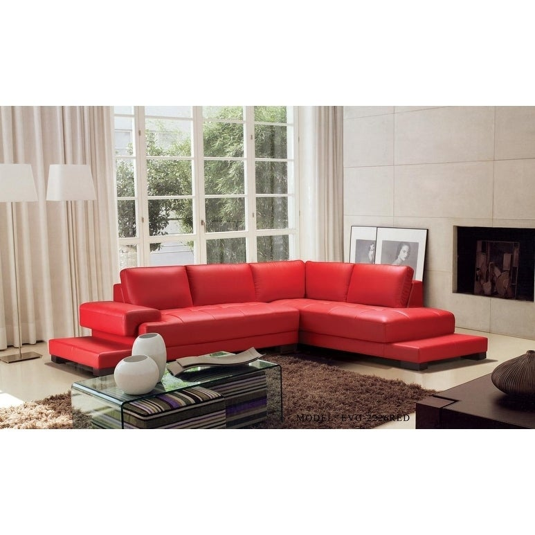 Ruby Leather 2-piece Sectional Sofa