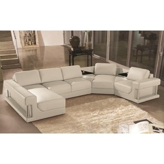 Buy Leather U Shape Sectional Sofas Online At Overstock