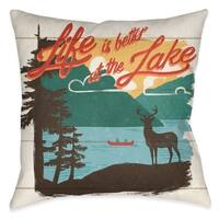 Laural Home Country Lake II Indoor Throw Pillow