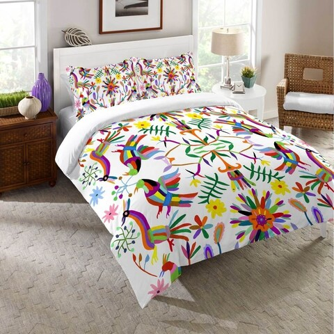 Laural Home Whimsical Folk Art Duvet Cover