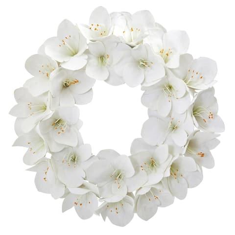 "24"" Amaryllis Artificial Wreath"
