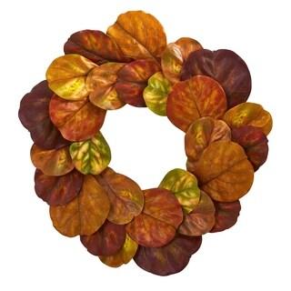 """29"""" Fiddle Leaf Artificial Wreath"""
