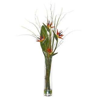 Bird of Paradise and Greens Artificial Arrangement