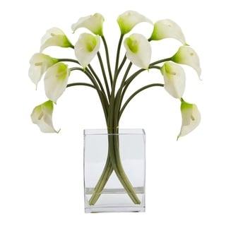Calla Lily Artificial Arrangement in Vase