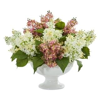 Lilac Artificial Arrangement in White Vase