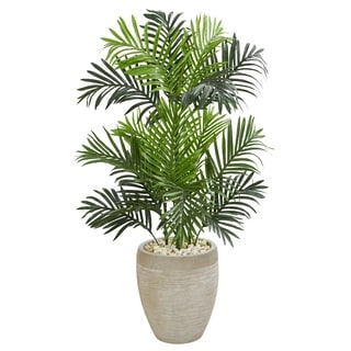 Paradise Palm Artificial Tree in Sand Colored Planter