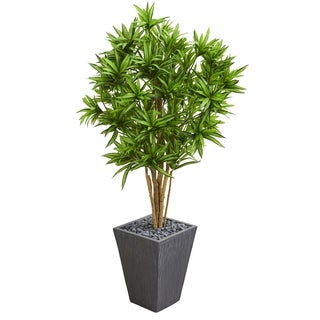 Dracaena Artificial Tree in Slate Finished Planter