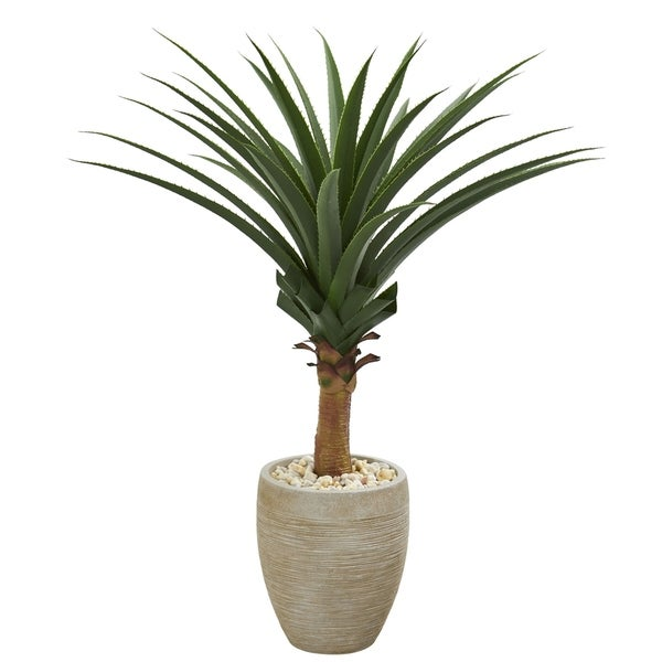 Agave Artificial Plant in Sand Colored Planter