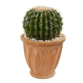 Cactus Artificial Plant in Terra Cotta Planter