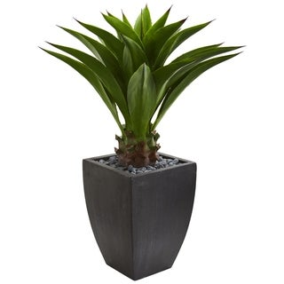 Agave Artificial Plant in Black Planter