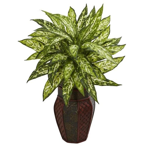 Aglonema Artificial Plant in Decorative Planter