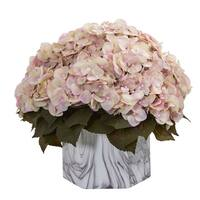 Fall Hydrangea Artificial Plant in Marble Finished Vase
