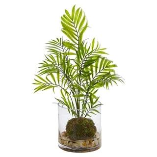 Mini Areca Palm Artificial Plant in Vase