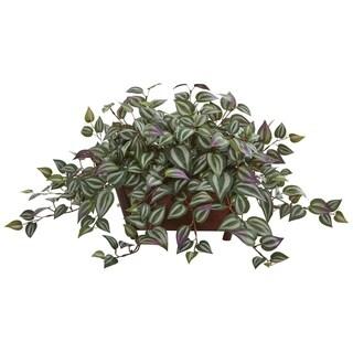 Wandering Jew Artificial Plant in Decorative Planter