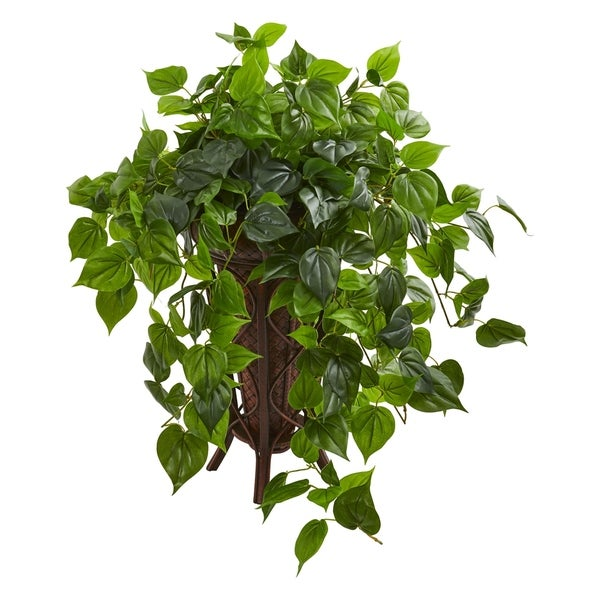 Philodendron Artificial Plant in Stand Planter