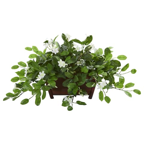 Mix Stephanotis Artificial Plant in Decorative Planter