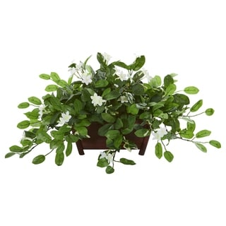 Mix Stephanotis Artificial Plant in Decorative Planter