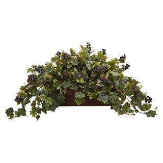 Grape Leaf Artificial Plant in Decorative Planter