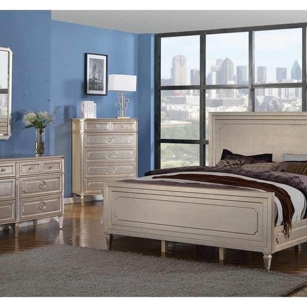 Shop Best Master Furniture Weathered Oak Sleigh: Shop Best Master Furniture Palais Distressed Metallic