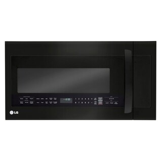 LG LMVM2033BD - 2.0 Cu Ft Matte Black Stainless Steel OTR Microwave