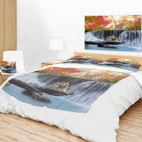Designart 'Tiger in the Jungle' Photography Throw Blanket
