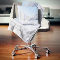 Designart 'Winter Trees Covered with Frost' Landscape Photography Throw Blanket