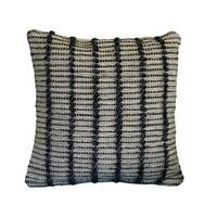"""AM Home Gray Bonded Striped Pillow, Poly Fill Insert, 18"""" x 18"""""""