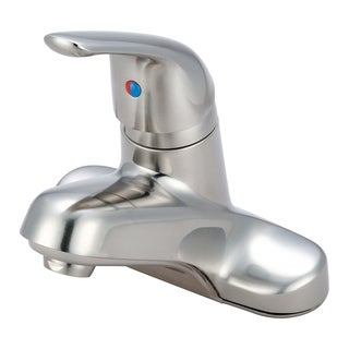 Elite Single Handle Bathroom Faucet - L-6161-BN - Brushed nickel