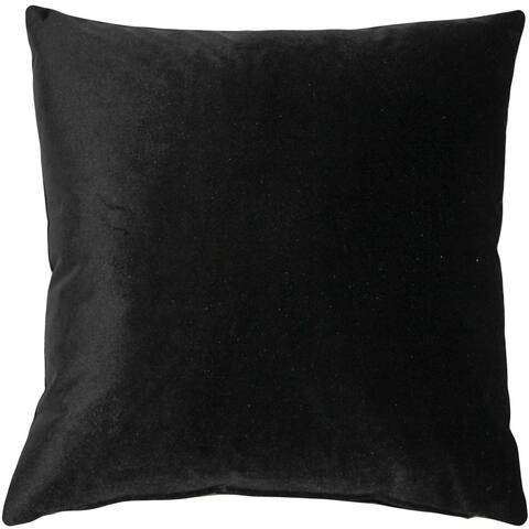 Pillow Decor - Corona Black Velvet Pillow 19x19