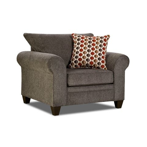 Simmons Upholstery Albany Pewter Chair