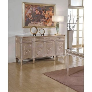 Best Master Furniture Palais Metallic Bronze Wood Glass Dining Sideboard