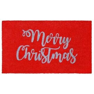 "Liora Manne Holiday Greetings Coir Welcome Door Mat (1'6"" x 2'6"") - 1'6"" x 2'6"""