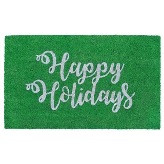"Festive Greetings Coir Door Mat (1'6"" x 2'6"")"