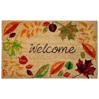 "Liora Manne Autumn Foliage Coir Welcome Door Mat (1'6"" x 2'6"") - 1'6"" x 2'6"""