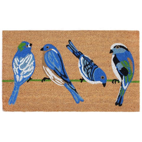 "Liora Manne Chirp Quartet Coir Welcome Door Mat (1'6"" x 2'6"")"