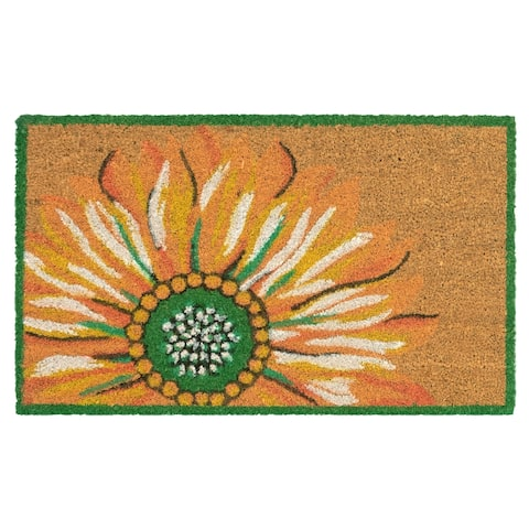"Liora Manne Summer Flower Coir Welcome Door Mat (1'6"" x 2'6"")"