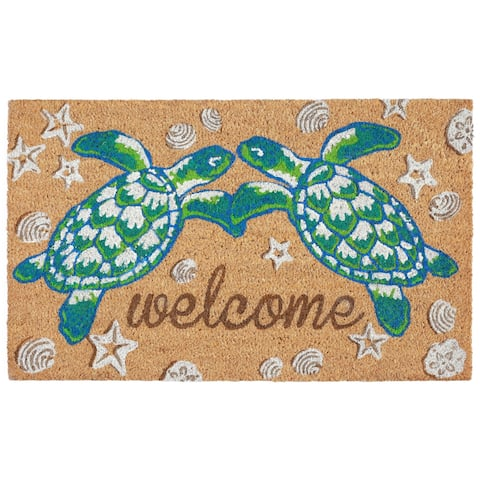 "Liora Manne Greeting Coir Welcome Door Mat (1'6"" x 2'6"")"