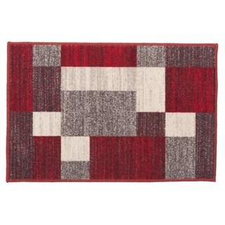 "Modern Red Boxes Design Non-slip (Non-skid) Rug - 1'8"" x 2'6"""