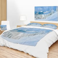 Designart 'Panoramic Winter Mountain' Landscape Photography Throw Blanket