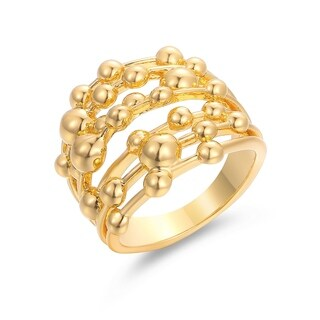 Gold Plated Stacked Ring