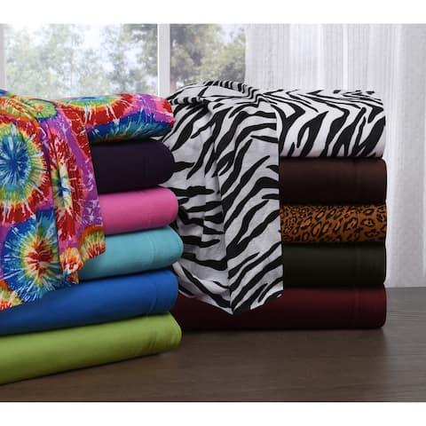 Knit Jersey King Size Jersey Bed Sheet Set