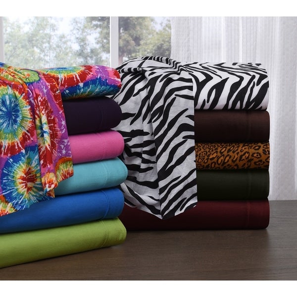 Shop Knit Jersey King Size Jersey Sheet Set Free Shipping Today