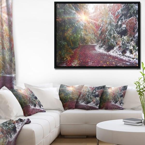 Designart Breathtaking View Of Aline Forest Landscape Photography Framed Canvas Print Overstock 22354817