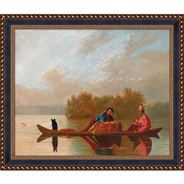 George Caleb Bingham 'Fur Traders Descending the Missouri, 1845' Hand Painted Oil Reproduction