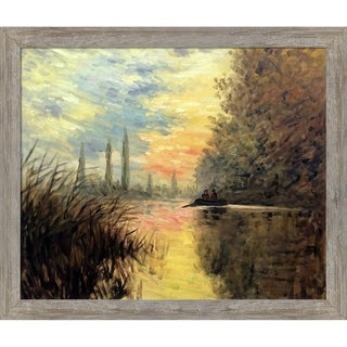 Claude Monet 'Evening at Argenteuil' Hand Painted Oil Reproduction