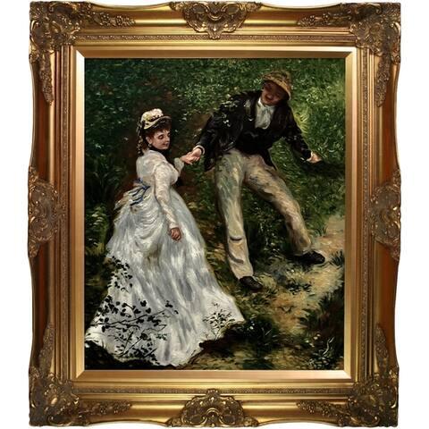 Pierre-Auguste Renoir 'La Promenade' Hand Painted Oil Reproduction
