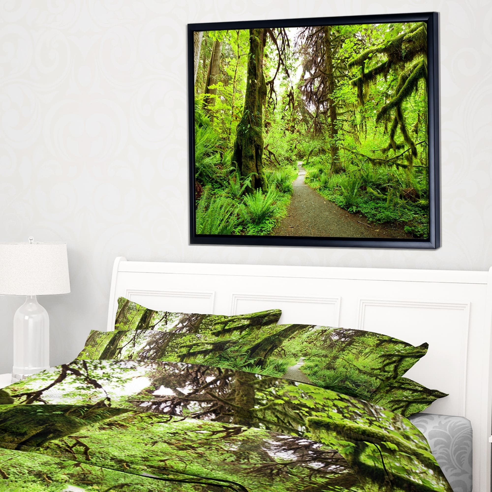 Forest Bridge LANDSCAPES  Canvas Art Print Box Framed Picture Wall Hanging BBD