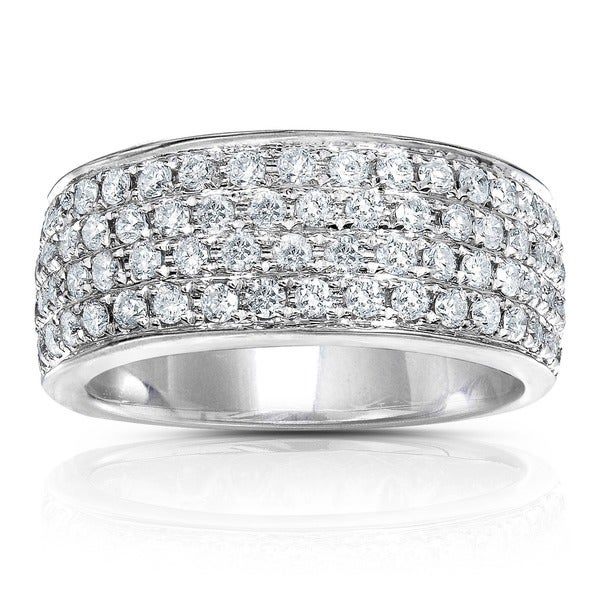 Annello by Kobelli 14k White Gold 1ct TDW White Diamond Band